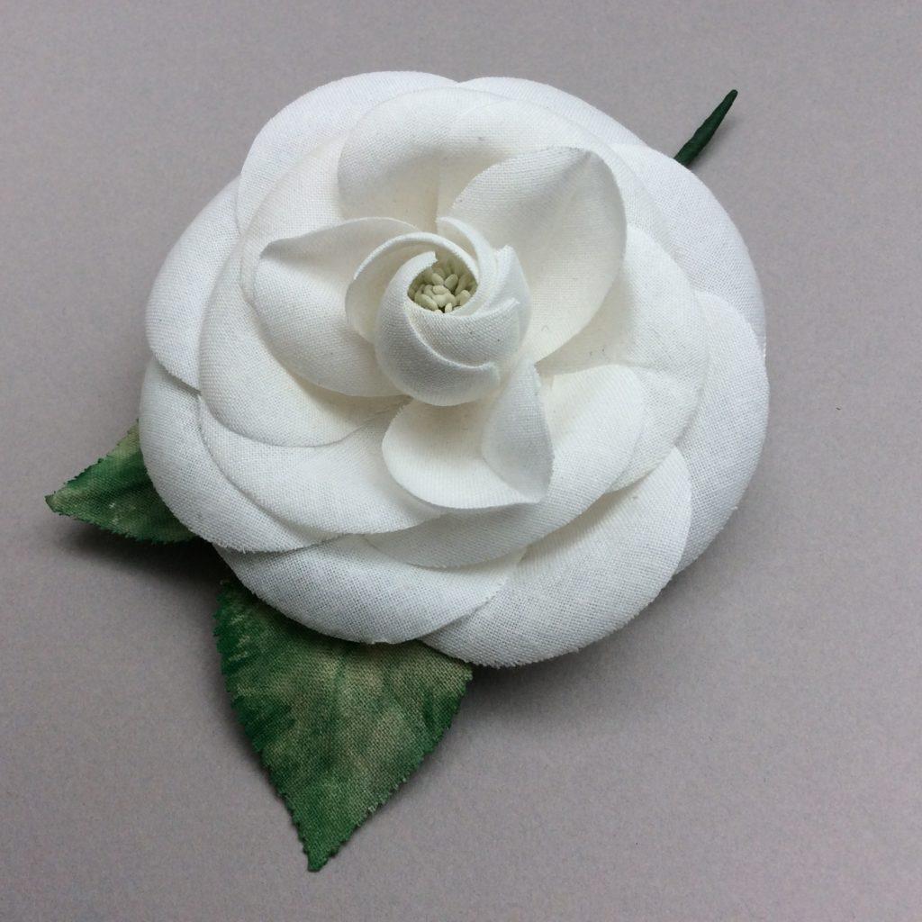 CAMELIA blanc en lin par Anita Matell * Florès
